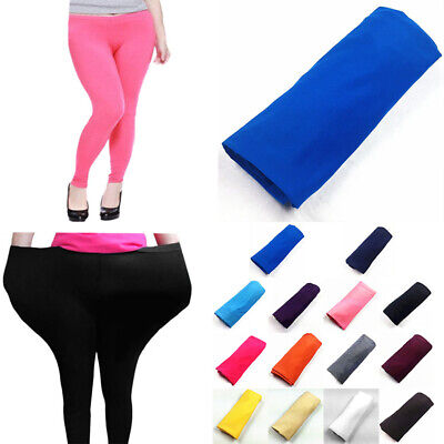 2018 Women Plus Size Skinny High Waist Leggings Stretchy Pants Pencil Jeggings