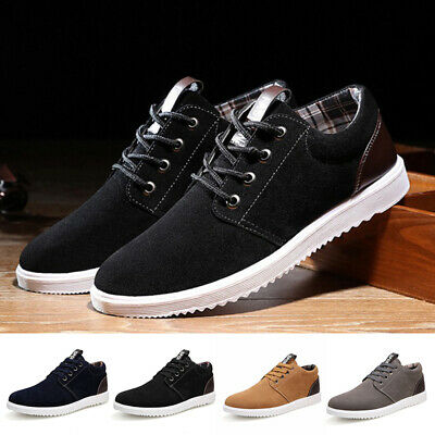 Mens Low Top Canvas Flats Sneakers Casual Lace Up Breathable Sport Shoes SZ D631