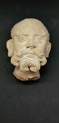 Ancient Gandhara Stucco Statue Fragment Boddisatva Head