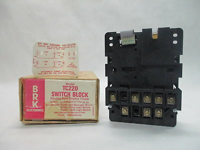 BRK TC220 Switch Block Double Pole Double Throw 30A 120/208/240/277VAC 60Hz