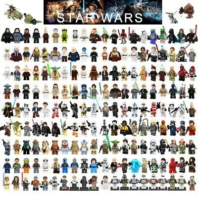 Star Wars Minifigures Jedi Darth Vader Yoda Kylo Ren Clone Jaja Ewok Blocks