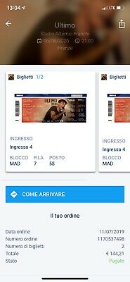 Biglietto Concerto Ultimo Firenze SOLD OUT