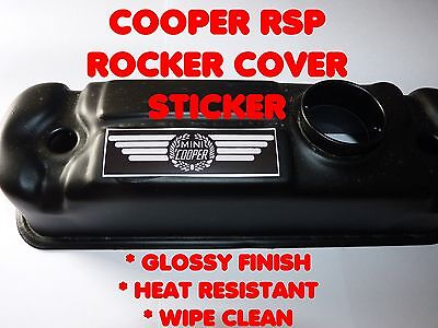 John Cooper Replica Rocker Cover Sticker Mini 1.3i RSP 'S' Works Spi Mpi Se7en