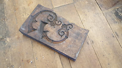 Beautiful Antique Carved Ornate Wooden Plaster Mould for Castings 25576