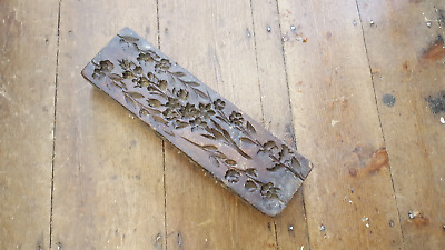 Large Antique Carved Ornate Wooden Plaster Mould for Castings 25567