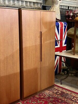Mid Century Retro Teak Fitted Wardrobe Armoire By Newton And White Furniture
