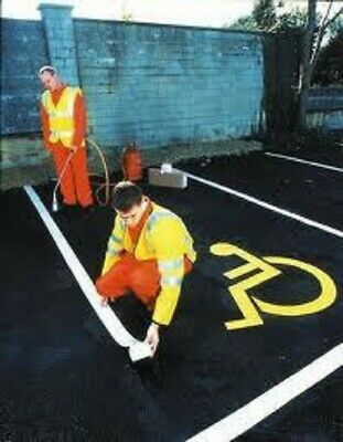 Thermoplastic Road Line Marking White 100mm 5metres