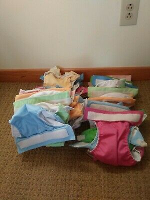 46 Cloth Diapers with Extra Inserts