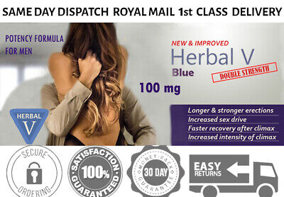 50 X 100MG Blue SEX Tablets for Men Get Hard Quick Strong and Solid Erection