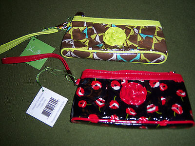 Vera Bradley Frill Hangin Out Wristlet Poppy Fields Or Sittin In A Tree