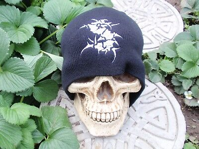 sepultura black embroided beanie misfits megadeth slayer testament anthrax armon