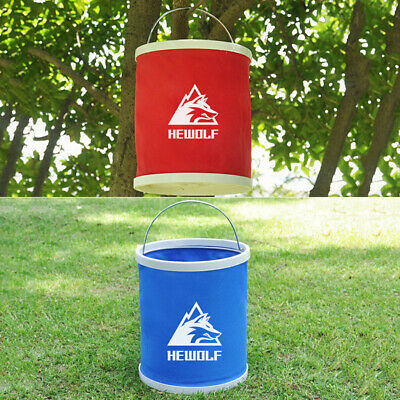 11L Folding Bucket For Drinking Washing Car Camping Outdoor Portable Container