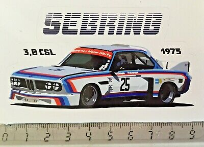 Sticker / Aufkleber, BMW 3,0 CSL, Redman/Peterson, Sebring 1975
