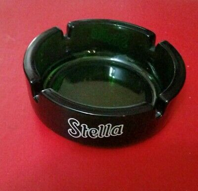 Stella Srtois Ashtray think glass nice green color perfect condition