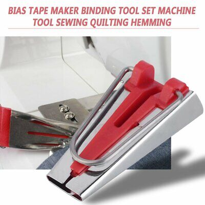 Bias Tape Maker Binding Tool Set Machine Tool Sewing Quilting Hemming A0