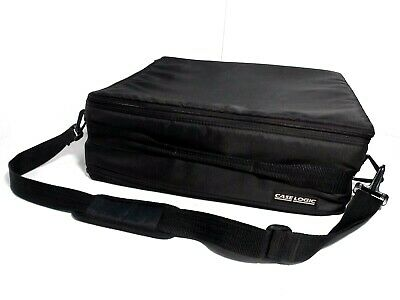 Case Logic Nylon 2-Sided Storage Case 120 Cassette Tape Capacity WITH STRAP