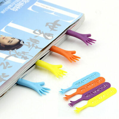 4pcs Help Me Bookmarks Lovely Hands Creative Slim Plastic Book Markers Gift Set