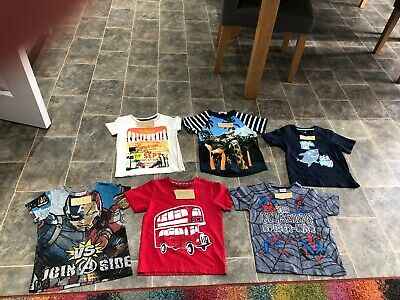 Bundle Of Boys Tshirts Age 4/6 All G8 Condition Bearly Used