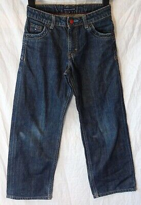 Boys Tommy Hilfiger Dark Blue Denim Adjustable Waist Relaxed Jeans Age 8 Years