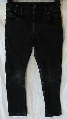 Boys River Island Dusky Black Distressed Denim Skinny Stretch Jeans Age 5 Years