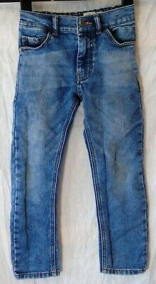 Boys Next Mid Blue Whiskered Denim Adjustable Waist Regular Jeans Age 6 Years