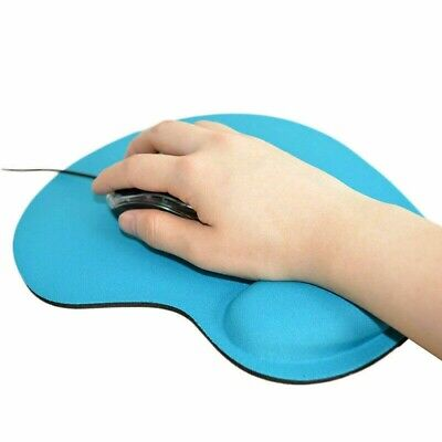 New Anti-Slip Mouse Pad Mat With Gel Wrist Support For PC Laptop Macbook Desk UK