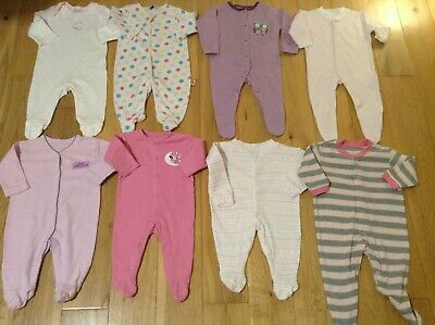 0-3 Months Baby Girl's Large Bundle Joblot of Mixed Clothes
