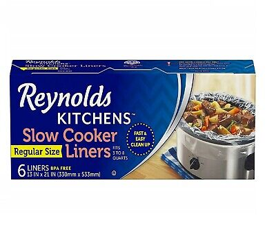 6 Reynolds Kitchens Premium Slow Cooker Liners – Easy Cleanup Kitchen Cooking