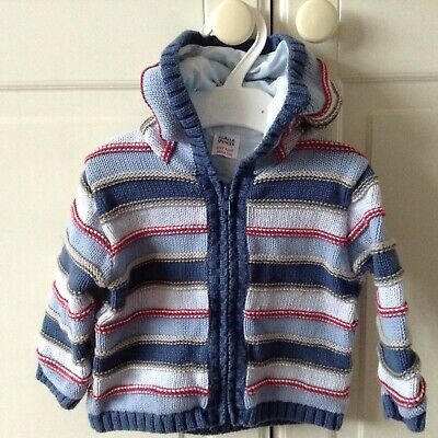 Baby Boys Blue Hoodie by Marks & Spencer. Size 9-12 Months. New.