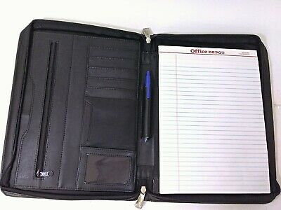 Leed's Black Leather Daily Planner Journal
