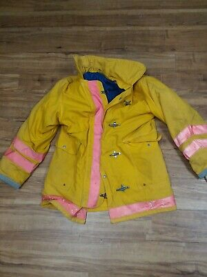 Firefighter Jacket Turnout Size Large Quaker Safety Products (FJ22)