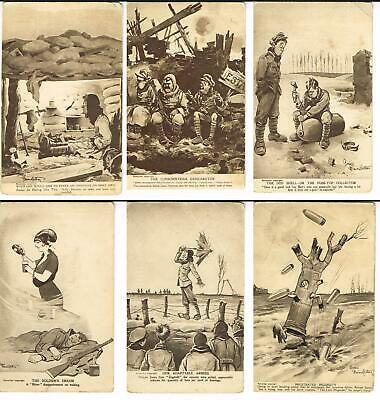 Bystander Fragments from France Cartoon Postcard Bruce Bairnsfather WWI