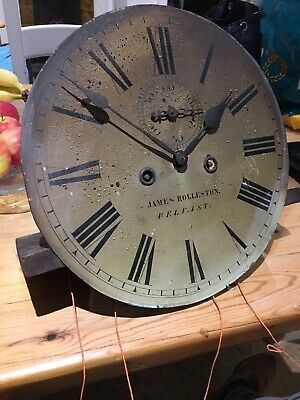 Grandather Clock Longcase Irish Movement Antique James Rolleston Belfast