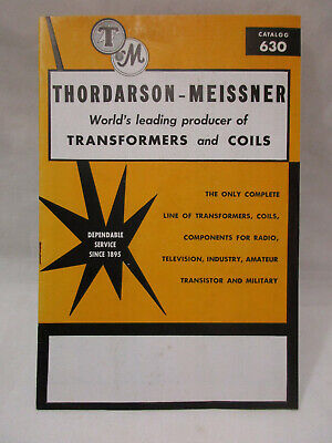 1960's THORDARSON Transformer & Coils Catalog and Reference Book, #630