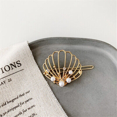 Hairgrip Crystal Shell Hollow Zircon Hair Clips Pearl Hairpins Barrettes