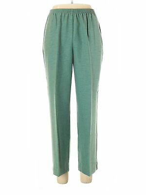 Alfred Dunner Women Green Casual Pants 12 Petites
