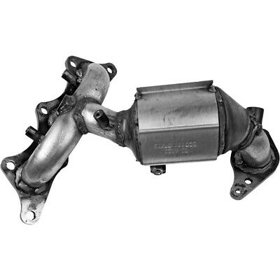 New Catalytic Converter Front Driver Left Side Powdercoated silver LH Hand