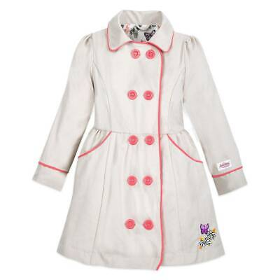 Disney Store Animators' Princess Collection Trench Jacket Coat for Girls sz 5/6