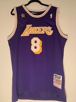Kobe Bryant Throwback Los Angeles Lakers Jersey #8 Vintage Purple (USA Stock)