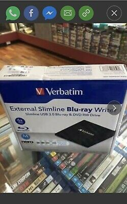 Brand New Verbatim External Bluray Writer Usb 3.0