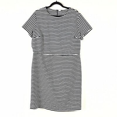 NWOT Old Navy Womens Striped Short Sleeve Dress Plus Size XXL 2X Black White