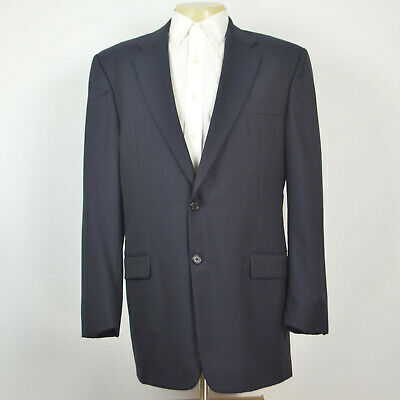 HICKEY FREEMAN Madison LORO PIANA Wool Navy Two Button Blazer Sport Coat Sz 44L