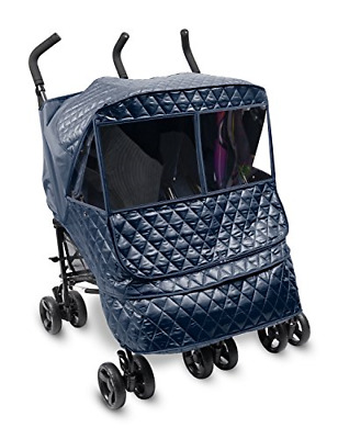Manito Castle Alpha Twin Stroller Weather Shield Navy