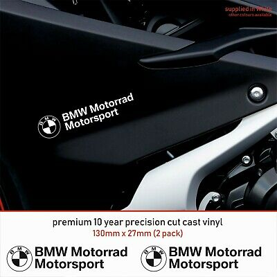 BMW MOTORSPORT MOTORRAD 10 Year Cast Vinyl Decals Stickers x 2-Premium Quality