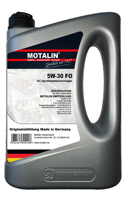 Motalin 5W30 FO Motoröl  - Made in Germany - 5 Liter