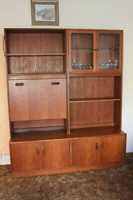 G Plan Fresco Mid Century Double Sideboard Base And Wall Units With Bureau