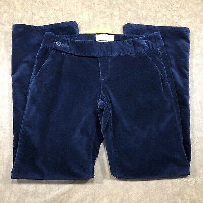 London Jean Kate Fit Bootcut Pants Womens Size 6 Long Stretch Blue Velour kr575