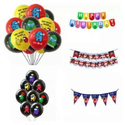 Roblox Latex Party birthday balloons. Roblox bunting flag banner decorations.