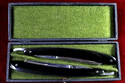 Straight razors shave ready, RESTORED Pair boxed,ANDREW JACSKON JORDON SHEFFIELD