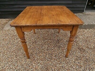 CHARACTERFUL 19th PINE FARMHOUSE SMALL KITCHEN DINING TABLE WE CAN DELIVER